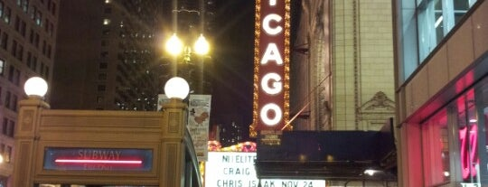 The Chicago Theatre is one of Traveling Chicago.