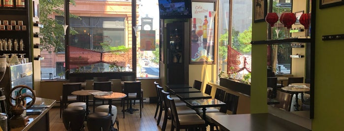 Café Bistro Mon Plaisir is one of Top café coffee shops Montreal.