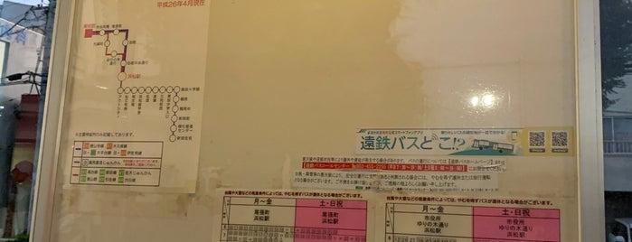 美術館バス停 is one of 遠鉄バス  51|泉高丘線.