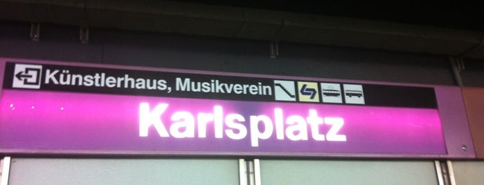 U Karlsplatz is one of 4sq Cities! (Europe).