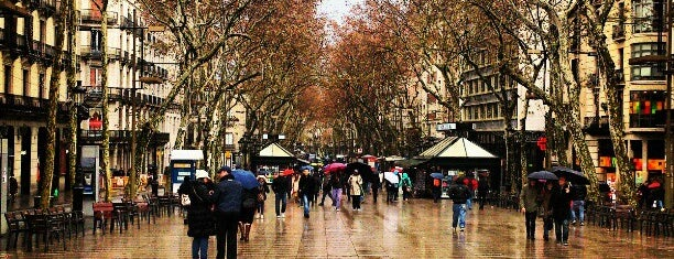 La Rambla is one of Barcelona musts.