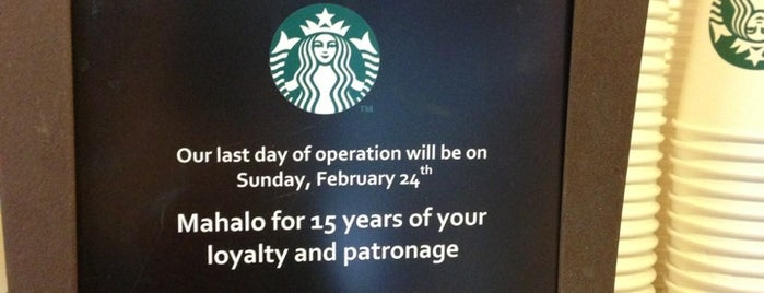 Starbucks is one of Bravo Hawaii.