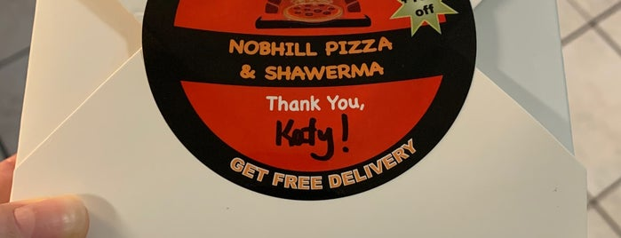 Nobhill Pizza & Shawerma is one of Restaurants I've tried.