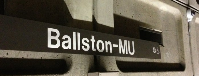 Ballston-MU Metro Station is one of Locais curtidos por Joao.
