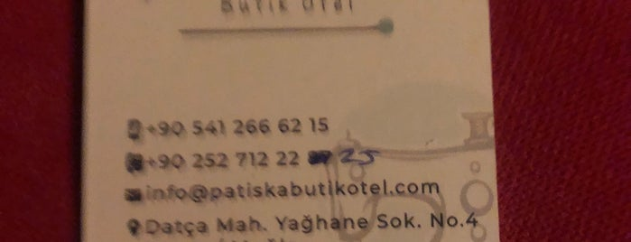 Patiska Butik Otel is one of 🏨 Marmaris & Datça Otelleri.