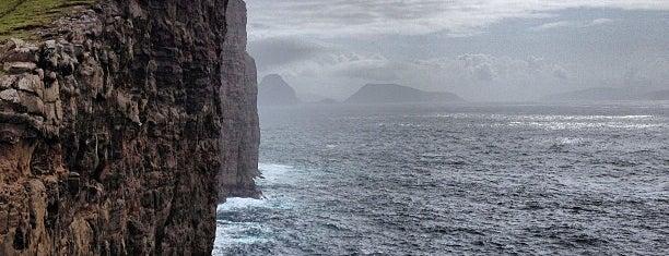 Sørvágsvatn is one of Faroe Islands.