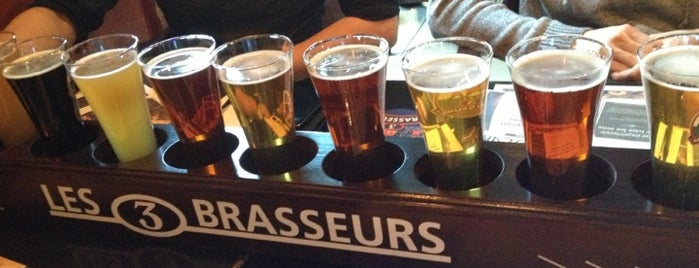 Les 3 Brasseurs is one of Brewed in Montreal.