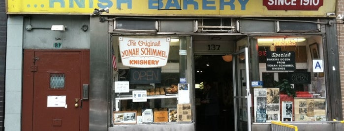 Yonah Schimmel Knish Bakery is one of New York City Classics.
