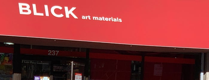 Blick Art Materials is one of NYC.