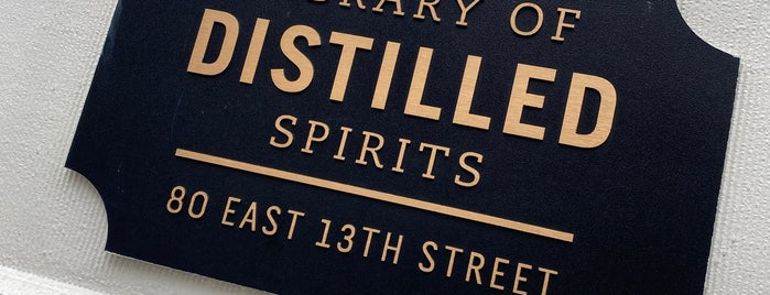 Library Of Distilled Spirits is one of NYC 2018.