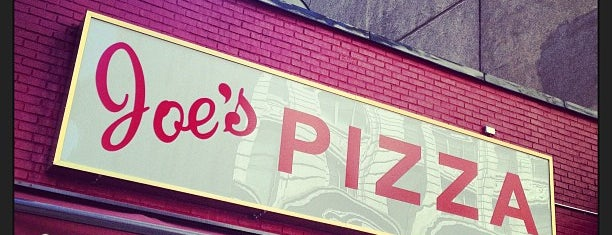 Joe's Pizza is one of nyc eats.