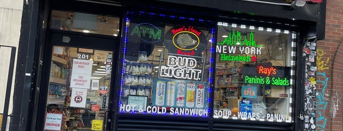 """Ray's Gourmet is one of """"Oh, I love New York""""."""