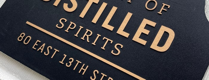Library Of Distilled Spirits is one of Manhattan's Top 100 Cocktail Bars 🥃.
