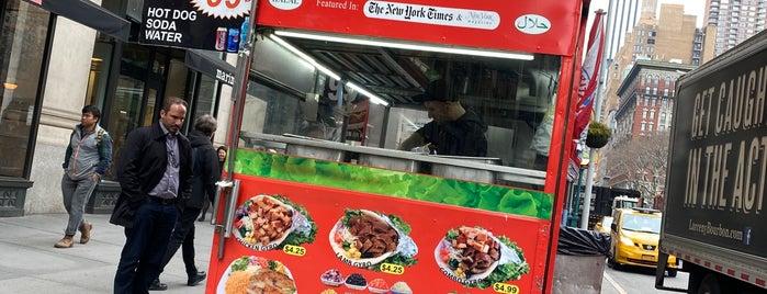 Rafiqi's Halal Food Truck is one of NYC Food on Wheels.