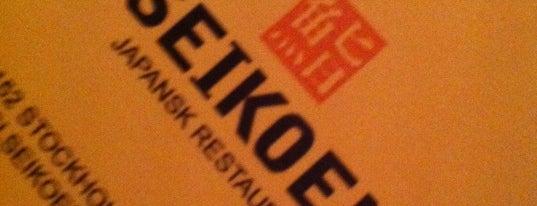 Seikoen is one of Stockholm White Guide: Mycket god klass.