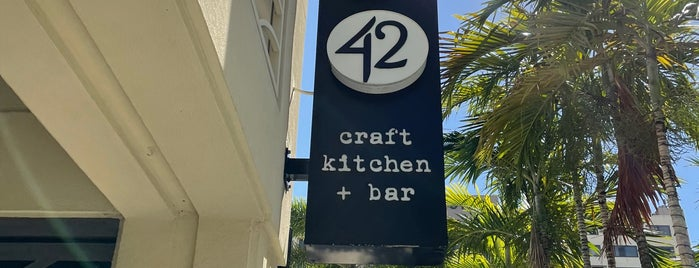 Tap 42 Craft Kitchen + Bar is one of Boca.