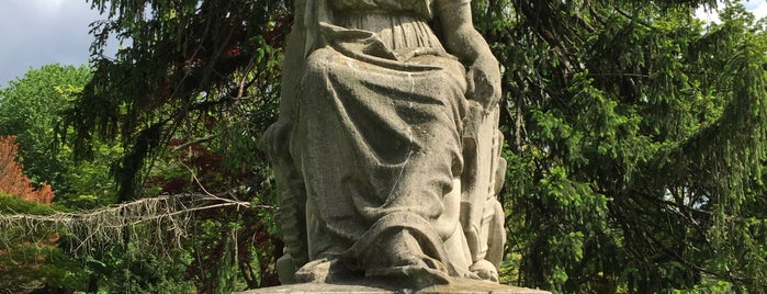 Lady Baltimore Statue at Cylburn Arboretum is one of the great baltimore checkin.