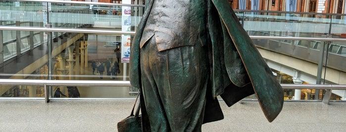 Sir John Betjeman Statue is one of L Rest.