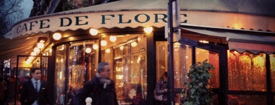Café de Flore is one of Lieux gourmands et gourmets.