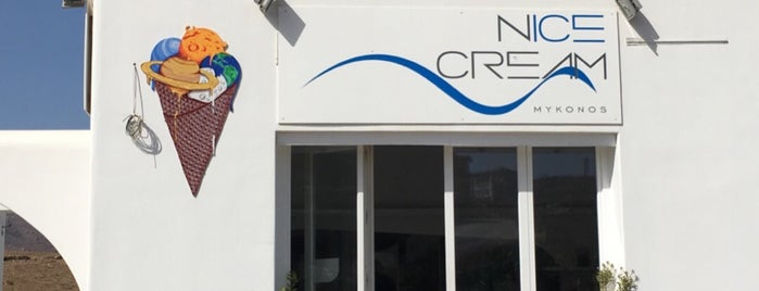 N'ice cream is one of Mykonos.