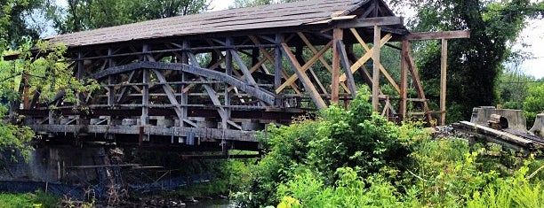 Quinlan Covered Bridge is one of Vermont's Covered Bridges.
