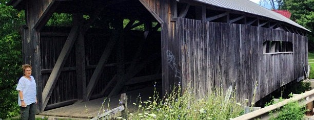 Browns River Bridge is one of Vermont's Covered Bridges.
