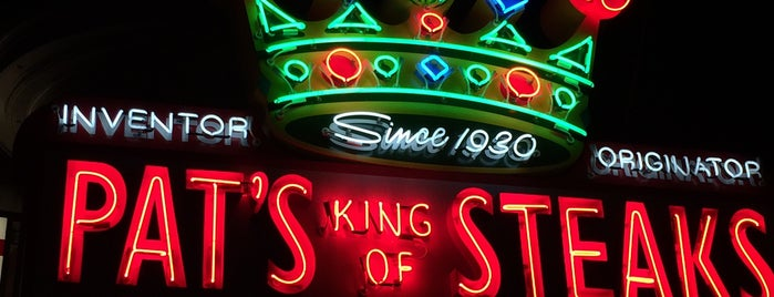 Pat's King of Steaks is one of Pennsylvania Food.