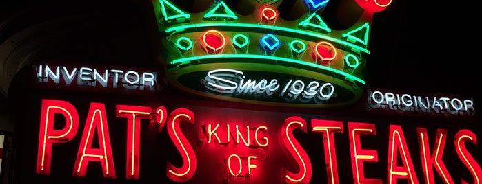 Pat's King of Steaks is one of Pennsylvania Food.