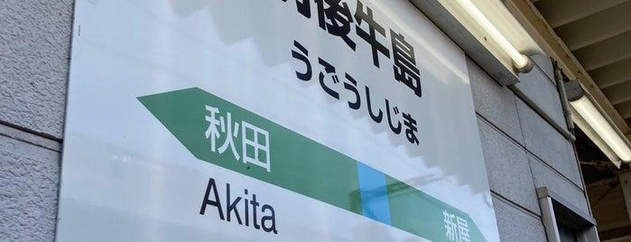 羽後牛島駅 is one of JR 키타토호쿠지방역 (JR 北東北地方の駅).
