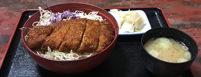 割烹食堂 水車 is one of 駒ヶ根ソースカツ丼会加盟店.
