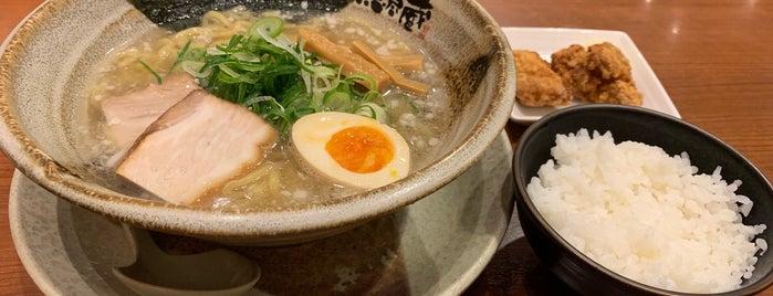 越後秘蔵麺 無尽蔵 みなとKOBE家 is one of 拉麺マップ.