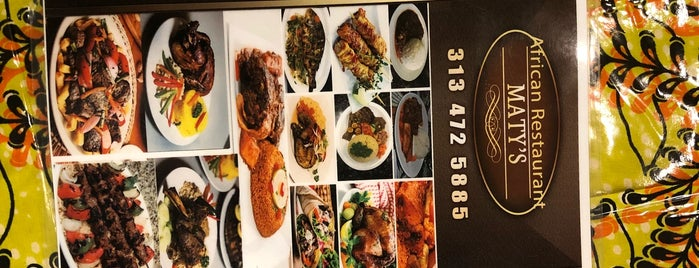 Maty's African Restaurant is one of BO - Detroit.