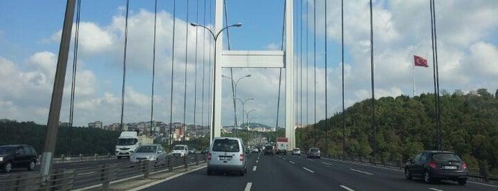 Fatih Sultan Mehmet Köprüsü is one of İstanbul.