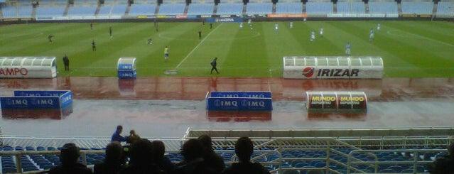 Estadio Municipal de Anoeta is one of La Liga BBVA Stadium 2013-14.