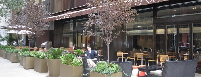 A Voce is one of NYC Restaurants With Outdoor Seating.