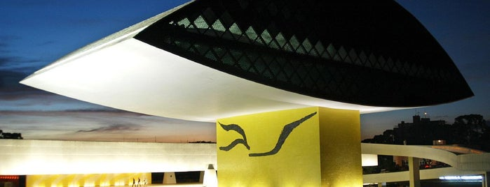 Museu Oscar Niemeyer (MON) is one of Locais curtidos por Roy.