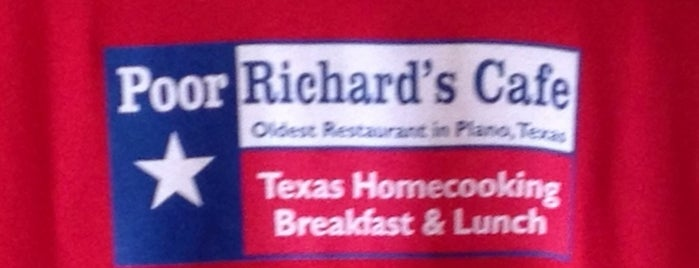 Poor Richard's Cafe is one of Dallas Restaurants List#1.