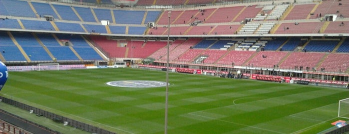 "Stadio San Siro ""Giuseppe Meazza"" is one of Milan."