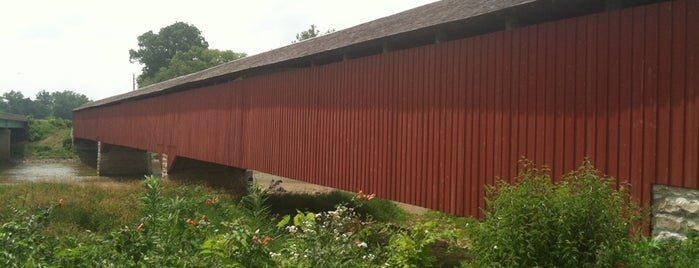 Medora Covered Bridge is one of Fall 2021 to Do.