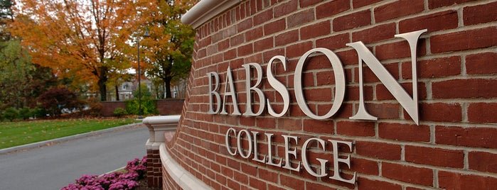 Babson College is one of Across the country- my favorites.