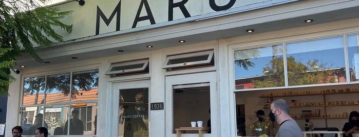 Maru Coffee is one of LA.