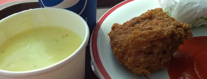 KFC is one of Lady's Liked Places.