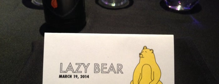 Lazy Bear is one of California Dankness.
