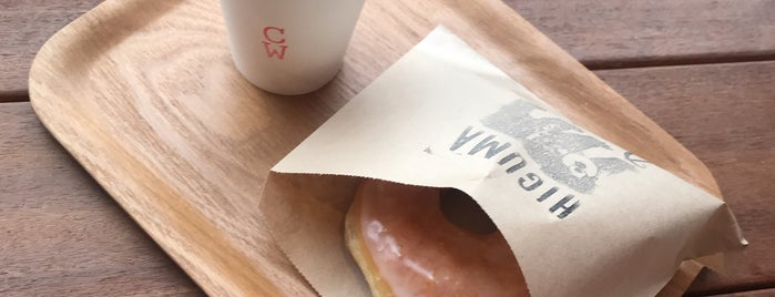 Higuma Doughnuts × Coffee Wrights is one of Tochickyo.