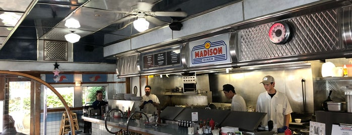 The Madison Diner is one of DIners, Drive-Ins & Dives 5.