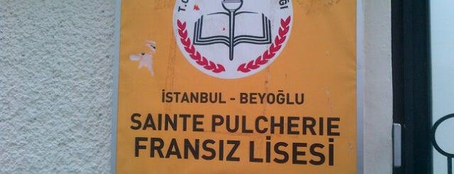 Sainte Pulchérie Fransız Lisesi is one of Beyoğlu Liseleri.