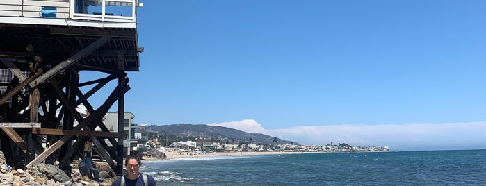 Malibu Colony Beach is one of LA.