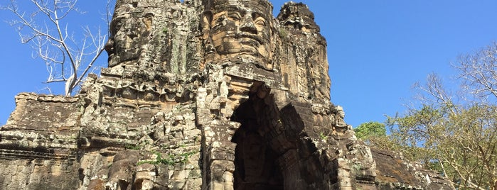 Angkor Thom South Gate is one of Siem Reap.