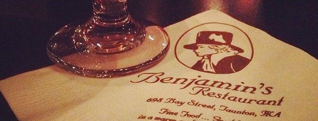 Benjamin's Restaurant is one of Lugares favoritos de Ben.