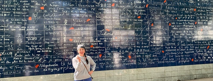 "Il Muro di ""ti amo"" is one of Paris."